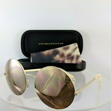 a296a47fab08 Brand New Authentic Victoria Beckham Sunglasses VBS 95 C7 56mm Gold VBS95  M0716