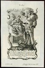 santino incisione1700 S.ANGELO DI LICATA M.  klauber