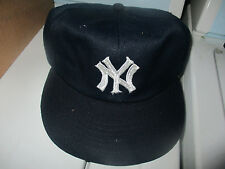New W/O Tag Orig 70's NEW YORK YANKEES Elastic Back Small Hat By Annco RARE!