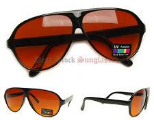 "BLUEBLOCKER ""Plastic Aviator"" Sunglasses GLOSS BLACK blue blocker driving mens"