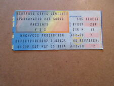 1984 YES CONCERT TICKET STUB 9012LIVE  TOUR hartford civic center CT