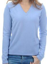 Balldiri 100% Cashmere Donna Maglione 2-fädig SCOLLO A V Azzurro Cielo XXL