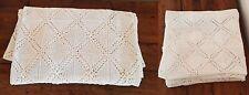 DESSUS DE LIT PATCHWORK crochet  en coton blanc entièrement fait main. FRANCE