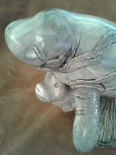 C.H. Cook Company Manatee Sea Cow Mother & Baby Fine Art Onyx Sculpture.