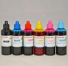 6X100ML dye refill Ink for Epson Artisan 50 R280 RX680 RX595 Printer CISS CIS