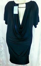 GUESS Marciano XS DRESS Black Mini Club Party Draped Back Stretch Banded NEW $98
