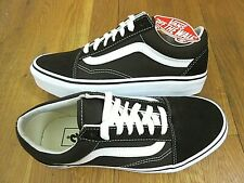 Vans Mens Old Skool Chocolate Torte True White Canvas Suede shoes Size 8 NWT
