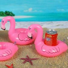 1pc Pink Mini Cute Flamingo Floating Inflatable Drink Can Holder Pool Bath Toyㅁ