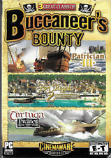 Buccaneer's Bounty 3 Games PC CD ROM 2006 Pirates Caribbean Empire Building Sim