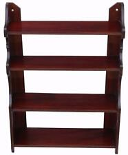 Antique quality late Victorian mahogany open bookcase C1900 4797