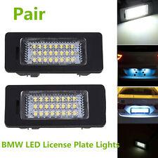 2 Pcs LED License Number Plate Light Lamps For BMW E46 E60 E61 E90 1 3 5 Series