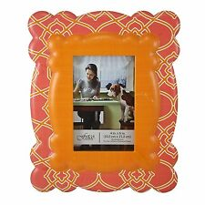 """Fetco Home Décor Frame Mady Floral Wall Art, 4"""" x 6"""", Orange/Pink, NEW!"""