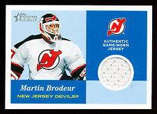 MARTIN BRODEUR 2001-02 TOPPS HERITAGE GAME USED JERSEY