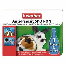 Beaphar anti Parasite Spot-On for Small Rodents Rabbit Hares 300-700g Lice Fleas