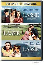 LASSIE TRIPLE - COME HOME SON OF LASSIE COURAGE OF LASSIE ELIZABETH TAYLOR R4