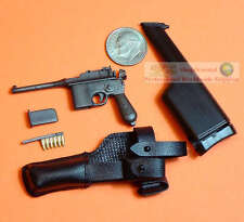 1:6 Scale Action Figure DRAGON BOLO MAUSER BROOMHANDLE PISTOL GUN C96 C96_2_BK