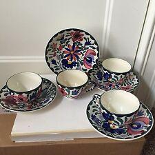New listing German Persian Ware Floral Design 8 Pc Cups Saucer Set Tea Coffee Vintage Euc