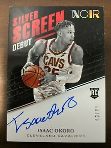 2020-21 Noir Silver Screen Debut Signatures RC ROOKIE AUTO #53/99 Isaac Okoro