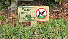 Respect Our Property | No Dog Pooping | Curb Your Dog | No Pooping | Magic Signs