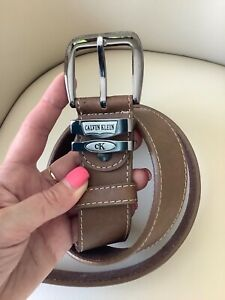 Calvin Klein Mens brown leather belt, Immaculate!