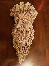 Greenman Green man face foliage plaster wall hanging decor plaque home new