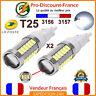 2 x Ampoule 33 LED T25 P27/7W 3156 3157 Blanc Feux De Jour Recul W27/7W