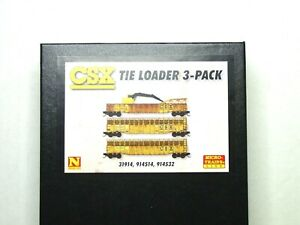 MICRO-TRAINS LINE N SCALE TIE LOADER THREE PACK CSX 99302100