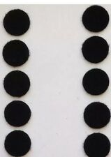 """Velcro Sticky Back - 1/5"""" Coins, 10 Sets - Black, New, Free Shipping"""