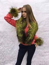 Silver Fox Fur ~47 inch Stole Tails As Wristbands Saga Furs Boa Collar Wrap.