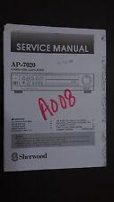 sherwood ap-7020 service manual original repair book schematic stereo pre amp