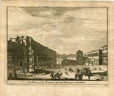 la place et le Fontaine de San Domingo un. Madrid par Pieter van der Aa
