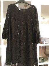 Black Monsoon Lace & Sequin Dress Size 14
