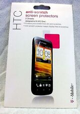 Authentic 2 Sheets OEM Anti Scratch HTC ONE T-Mobile S Shield Screen Protector