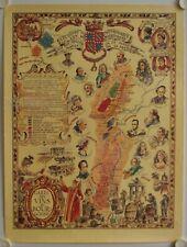 Affiche Ancienne CARTE DES VINS DE BOURGOGNES reproduction