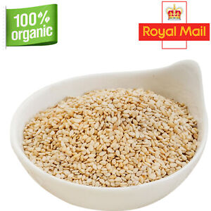 Organic Whole Sesames Seeds 50g-2Kg White Hulled Till Seed Free Fast UK Delivery