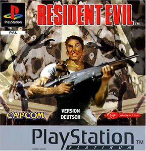 PS1 PSX Resident Evil Vers Tedesca PAL Gioco Usato con Manuale Playstation 1 PLT
