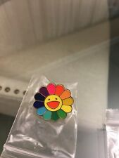New TAKASHI MURAKAMI Kaikai Kiki Flower Lapel  Pin Badge Rainbow complexcon rsvp