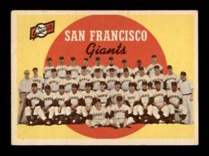 1959 Topps Set Break # 69 San Francisco Giants Team Card VG-EX *OBGcards*