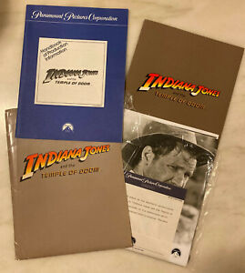 INDIANA JONES AND THE TEMPLE OF DOOM (1984) Press Kit, ALL 18 PHOTOS, 2 Booklets