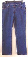 "Womens 15/16 FUBU Classics Medium Blue Jeans 32"" Inseam Cotton Blend Pre-Owned"