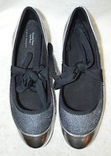 Simply Vera Vera  Wang Simply Women's Breathe Bally Pewter Lace-Up Ballet Flats