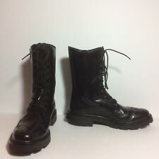 Y-3 $550 Jones ll Combat Boots Black Leather Sz 5D UK Fits 6.5 US HTF EUC