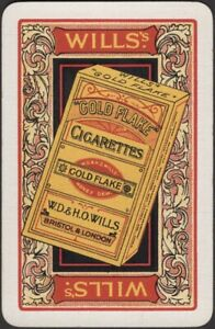 Playing Cards Single Card Old Vintage * GOLD FLAKE CIGARETTES Tobacco Smoking  G