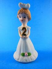 Growing up Girls age 2 Birthday Enesco 1982 SriLanka Mint in box Light brunette