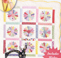 Mini Dresden Plate - applique & pieced miniquilt PATTERN & Template