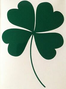 Four Leaf Clover Decal Lucky Sticker Outdoor Vinyl Any Colour Buy 2 Get 1 Free