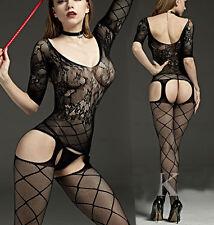Babydoll Sexy Lingerie Underwear Fishnet BODYSTOCKING Catsuit Garter 7110