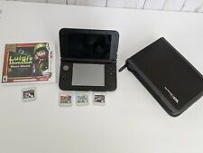 3ds XL Black w/ 4gb SD stylus Charger Mario kart 7 installed, 4 Games inc