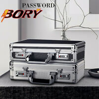 Men Women Aluminum Hard Briefcase Small Tool Boxes Business File Organize Case