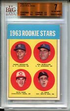 1963 Topps Baseball #537 Pete Rose Rookie Card RC Graded BVG Nr Mint 7 Reds '63